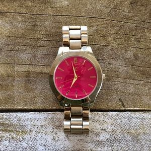 4 for $20 Charming Charlie Pink Face Watch